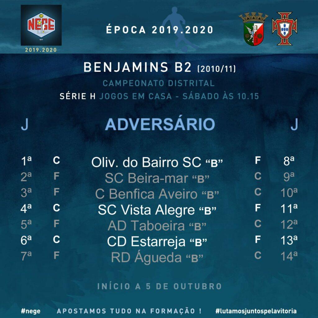 NEGE Sorteio do Campeonato Distrital BENJAMINS B (2010) Associação de Futebol de Aveiro
