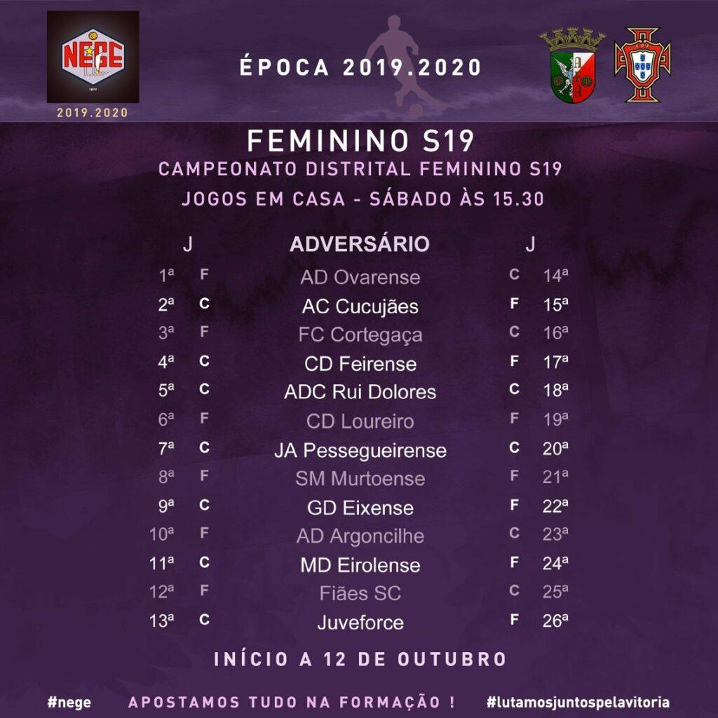 NEGE CALENDÁRIO FEMININO S19