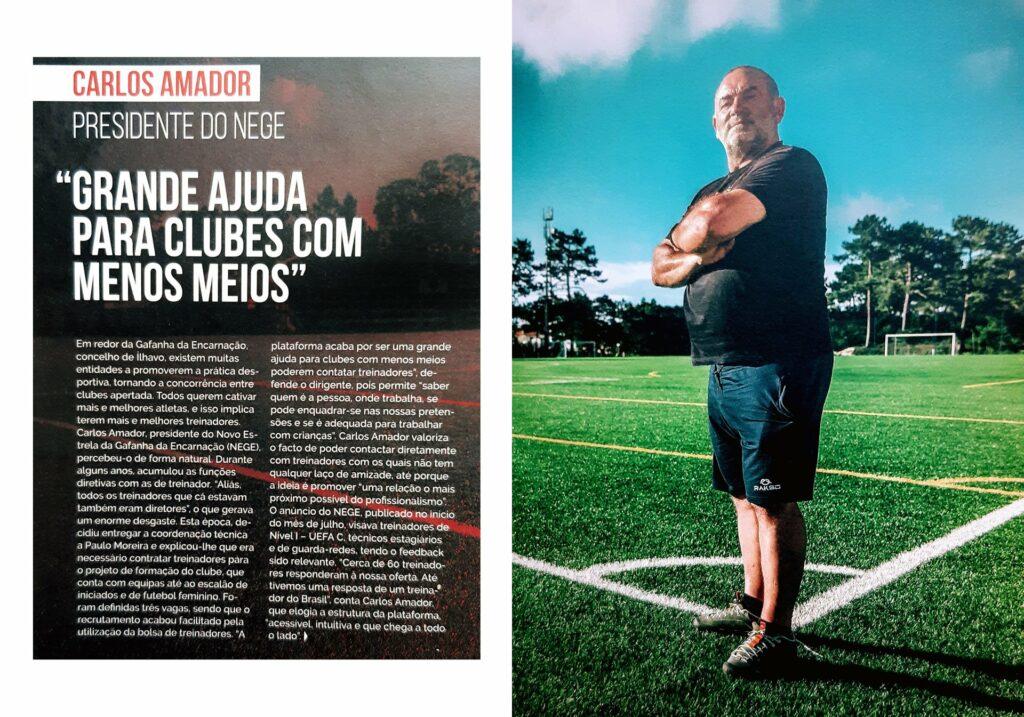 NEGE - CARLOS AMADOR EM ENTREVISTA À REVISTA AFA MAGAZINE.