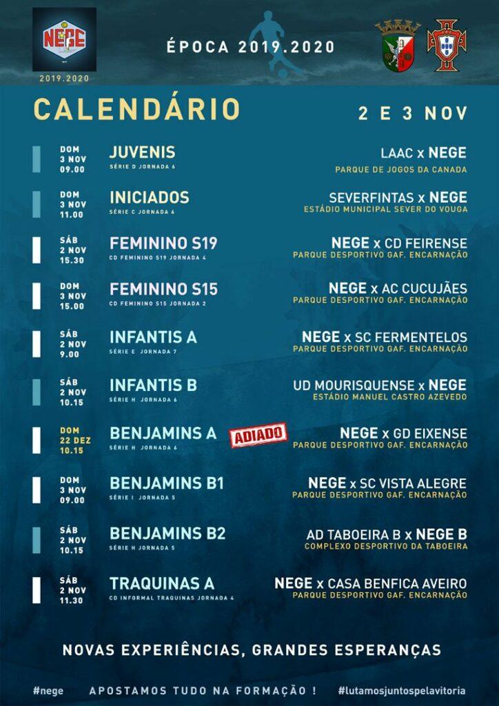 NEGE CALENDÁRIO SEMANA 10  |  2 E 3 NOV