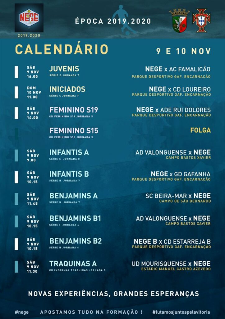 NEGE SEMANA 11 CALENDÁRIO