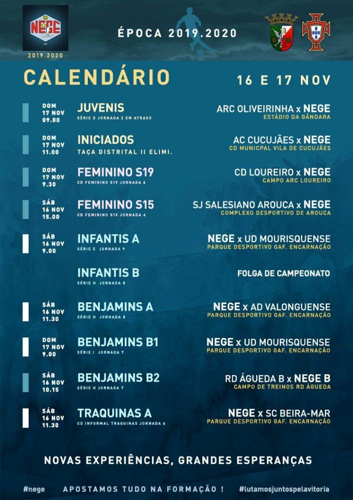 NEGE CALENDÁRIO SEMANA 12  |  16 E 17 NOV