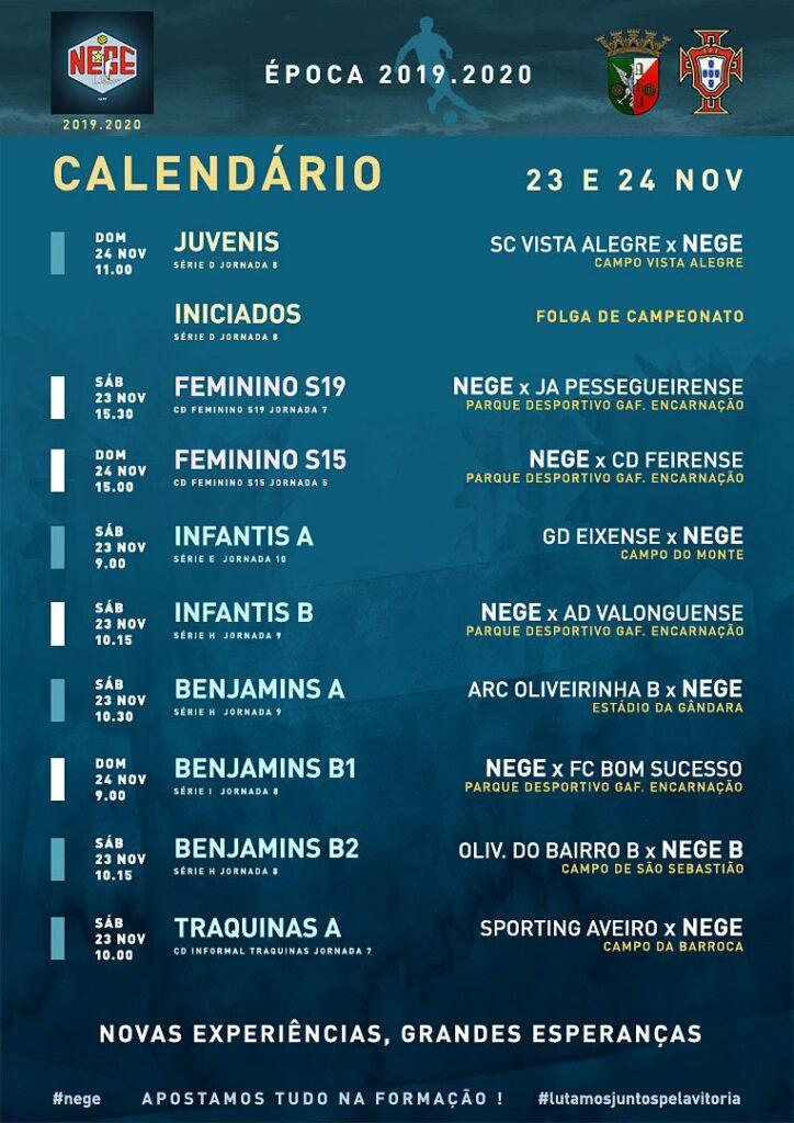 NEGE CALENDÁRIO SEMANA 13  |  23 E 24 NOV