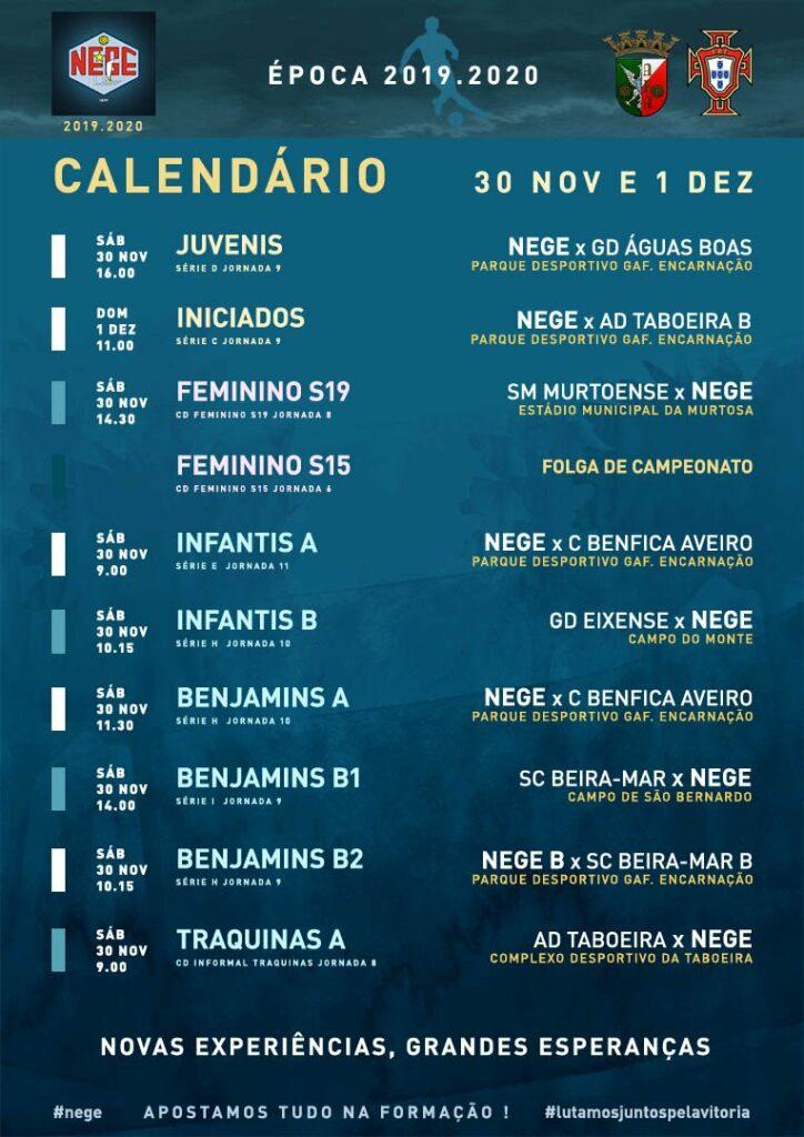NEGE CALENDÁRIO SEMANA 14