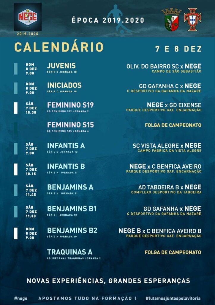 NEGE CALENDÁRIO SEMANA 15  |  7 E 8 DEZ