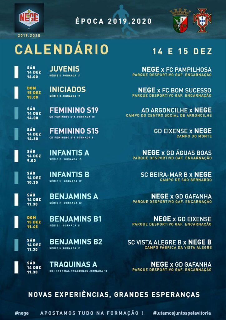 NEGE CALENDÁRIO SEMANA 16  |  14 E 15 DEZ  14 e 15 de dezembro 2019