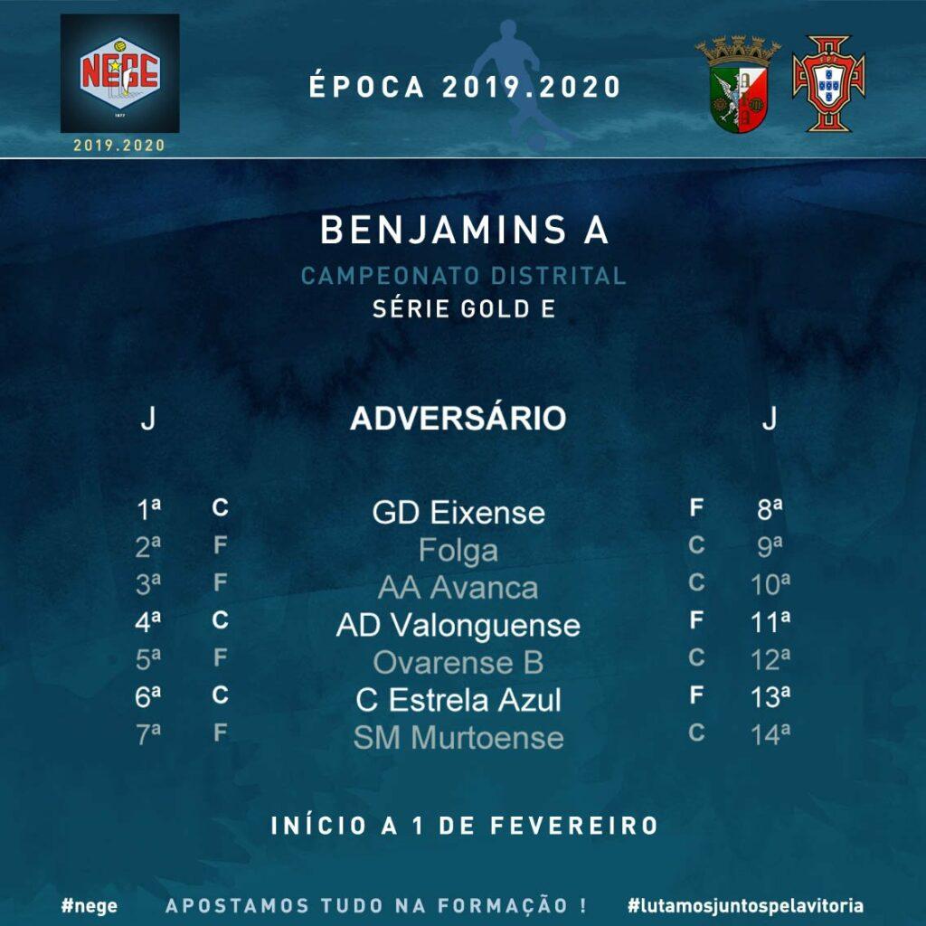 NEGE 2019.2020  Campeonato distrital  BENJAMINS A Série Gold E