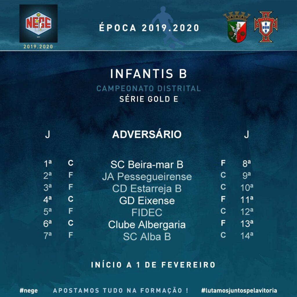 NEGE 2019.2020  Campeonato distrital  Infantis B  Série Gold E