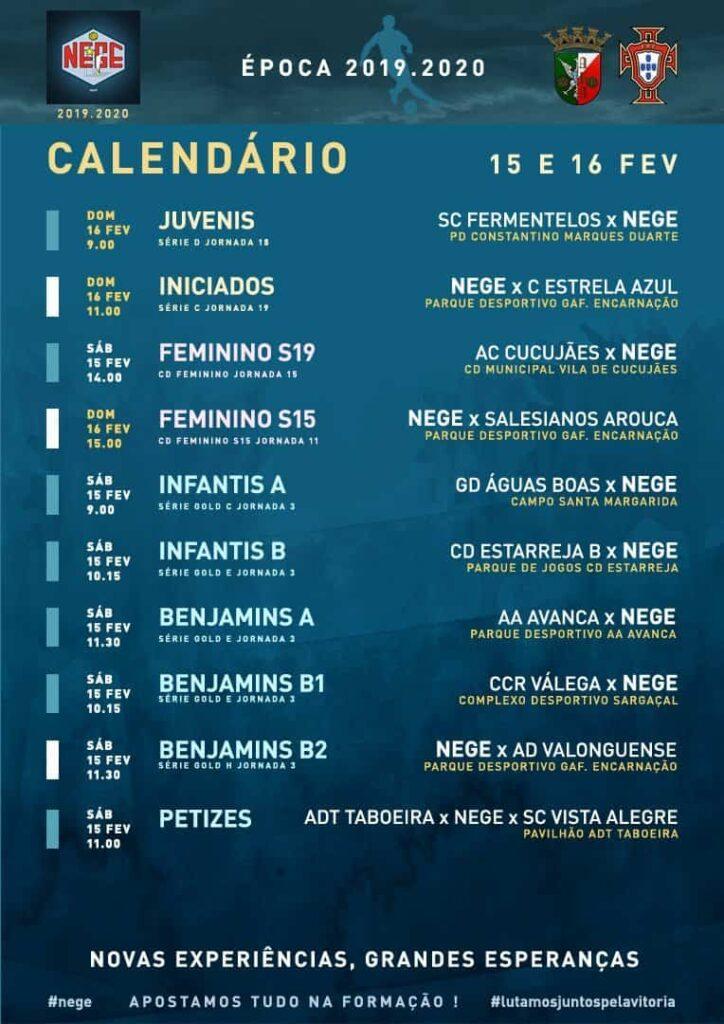 NEGE CALENDÁRIO SEMANA 25 |  15 E 16 FEV  15 e 16 de fev 2020  O caminho faz-se caminhando.